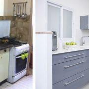 לפני ואחרי עיצוב המטבח
