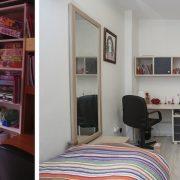 לפני ואחרי של עיצבו חדר ילדים