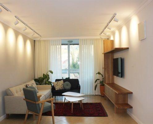 עיצוב סלון בבית פרטי ש משפחת גת