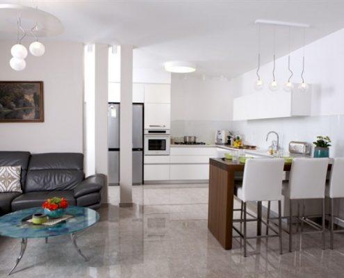 עיצוב סלון בבית משפחת יחזקאל