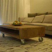 עיצוב סלון בשילוב שולחן נמוך