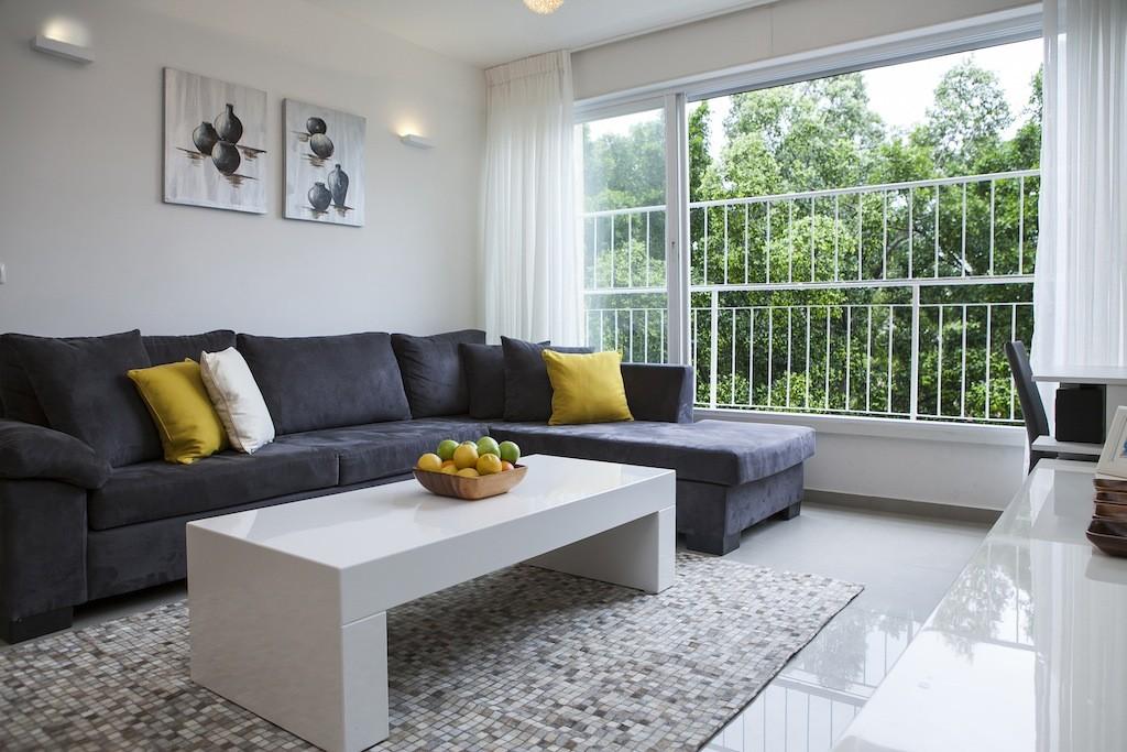 עיצוב סלון גדול בדירה