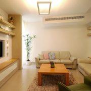 עיצוב סלון חמים ונעים בבית משפחת יופה