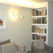 עיצוב ספרייה בסלון הבית