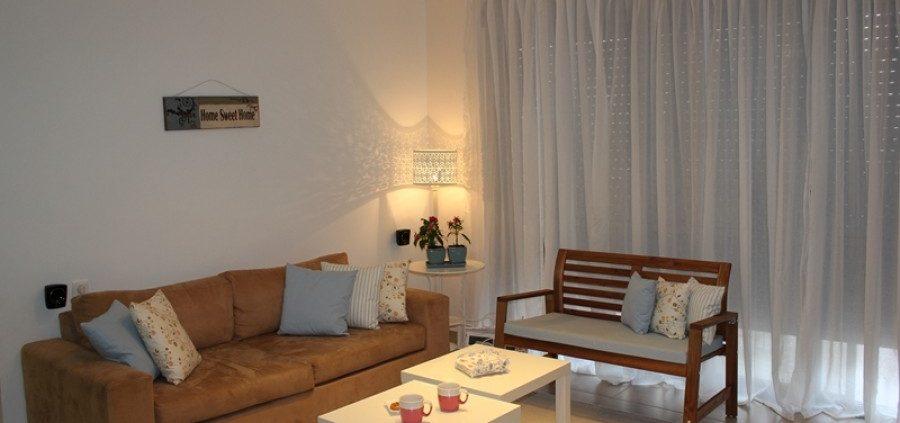 עיצוב פשוט לסלון משפחת אמסטרדם