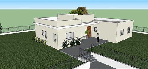 תכנון אדריכלי לבית פרטי של חולו